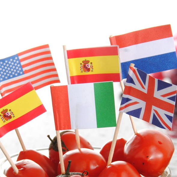 Espeto Bandeira da Itália c/ 50 unid.