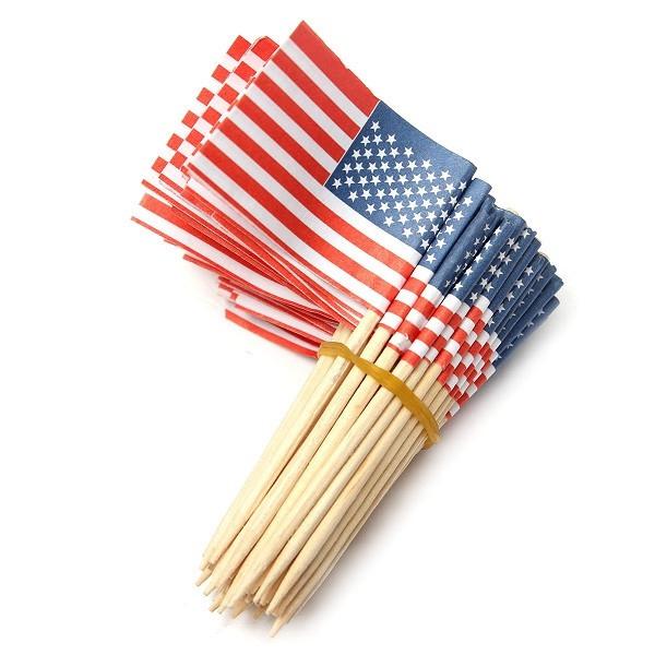 Espeto Bandeira dos EUA c/ 50 unid.