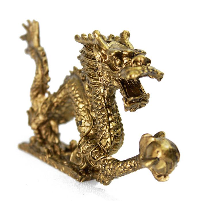 Dragão Dourado c/ Base 12,5 x 6,5 cm