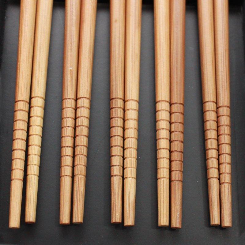 Palitos Hashi Bambu 5 pares Gueixas Caixa