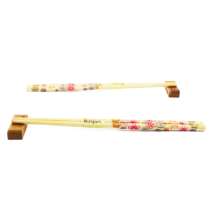 Palitos Hashi Bambu 2 pares / 2 apoios Sakura Cartela