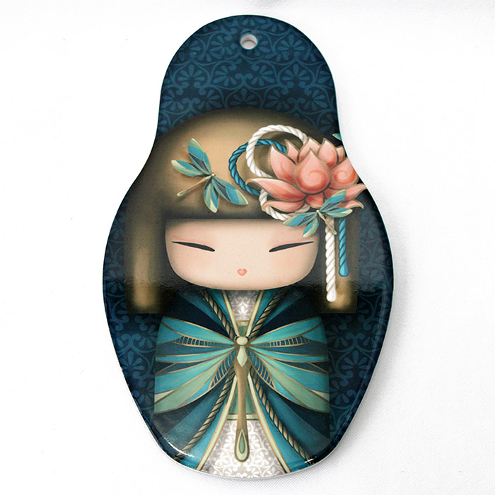 Descanso p/ Panela Kokeshi 13 x 22 cm - Verde