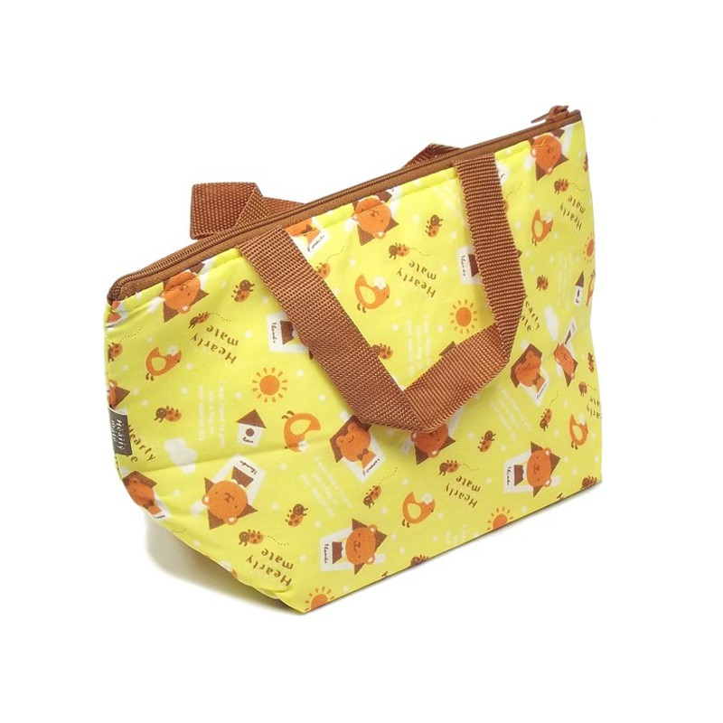 Bolsa Térmica p/ Lanche Sapo / Urso Amarela 24 x 14 cm