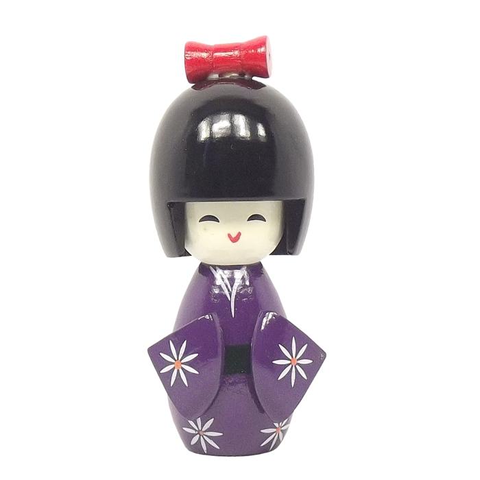 Kokeshi Laço M Roxo 11 cm