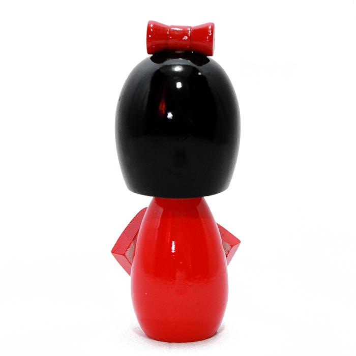 Kokeshi Laço M Vermelho 11 cm