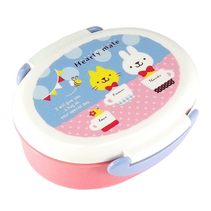 Bento Box c/ Trava Coelho / Gato Rosa 360 ml