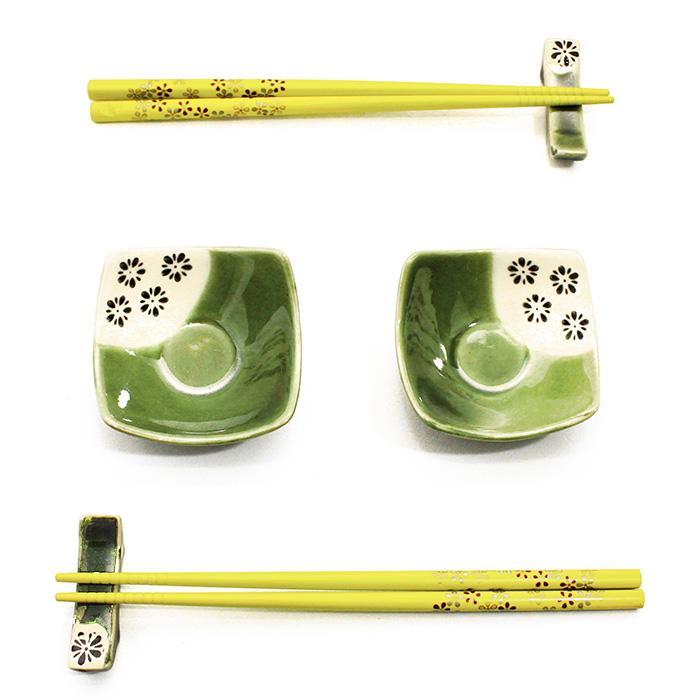 Jogo de Sushi Verde 6 pç