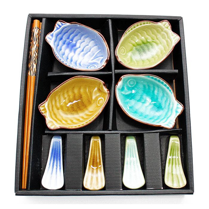 Jogo de Sushi Peixe 12 pç