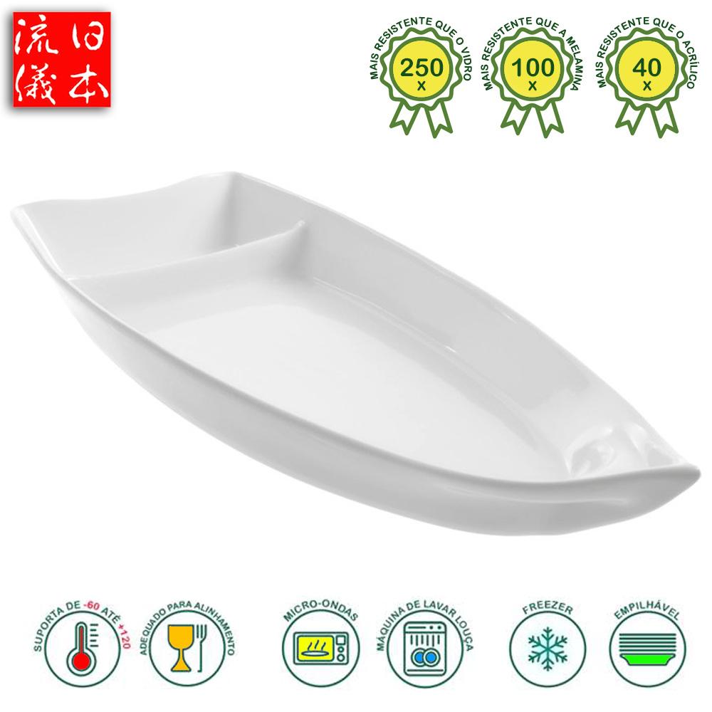 Barco Polímero de Policarbonato Branco 39 x 16 cm - 1.200 ml