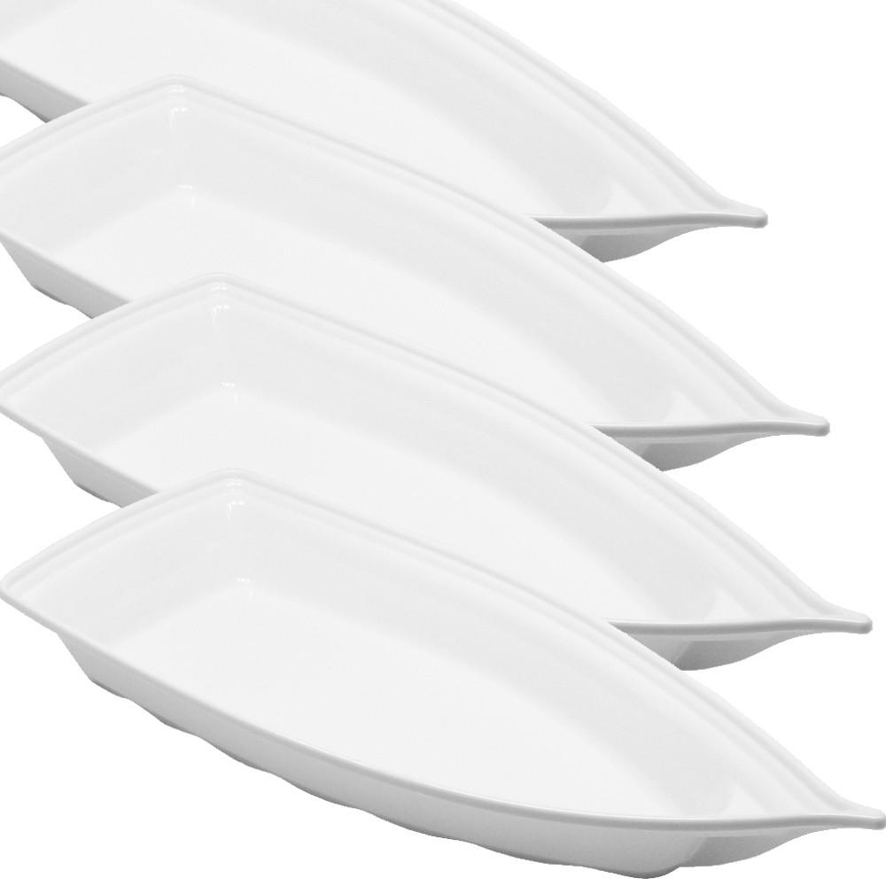 Barco Acrílico Branco 42 x 18 cm 1900 ml Kit c/ 6 pcs