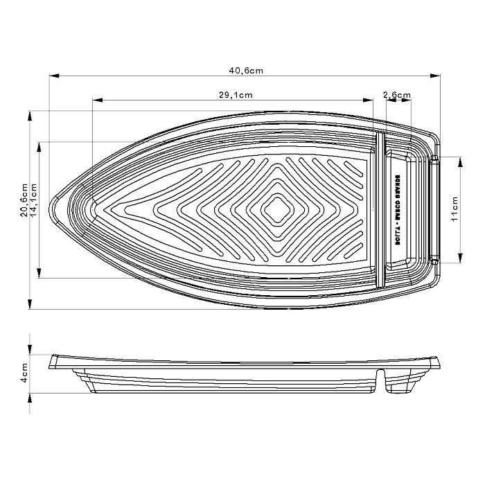 Barco Descartável c/tampa 41 x 21 cm 1,5 l Kit c/ 200 pcs