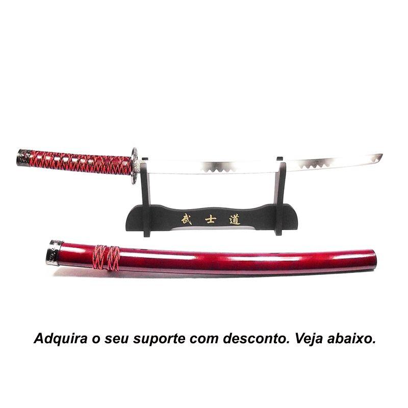 Espada Daito Ryuto Vermelho + Lubrificante + Capa
