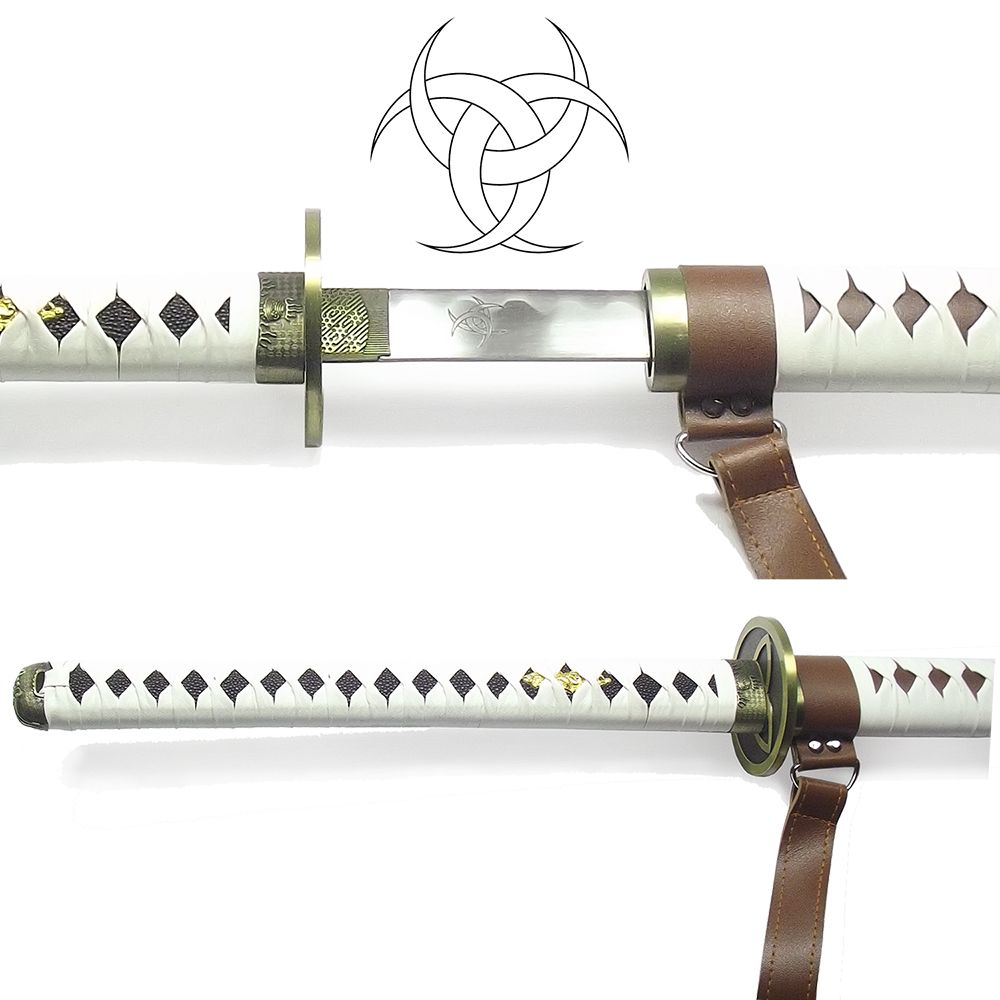 Espada Michonne Ornamental + Suporte + Lubrificante + Capa em TNT
