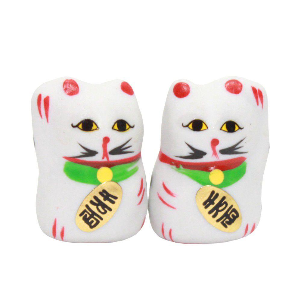 Gato da Sorte Manekineko Casal 4 cm