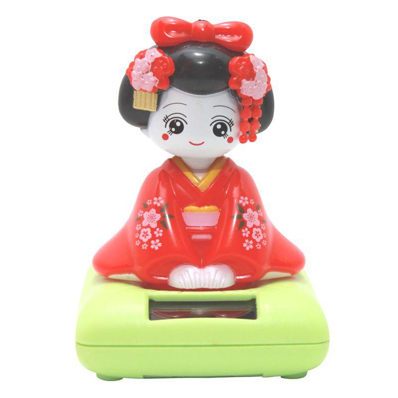 Gueixa Solar Kimono Vermelho 9 cm
