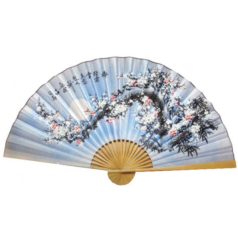 Leque de Parede 160 x 90 cm Azul / Sakura Branco