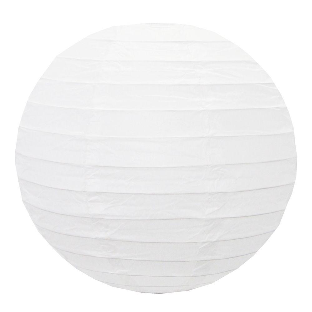Luminária Oriental Branca Lisa 50 cm