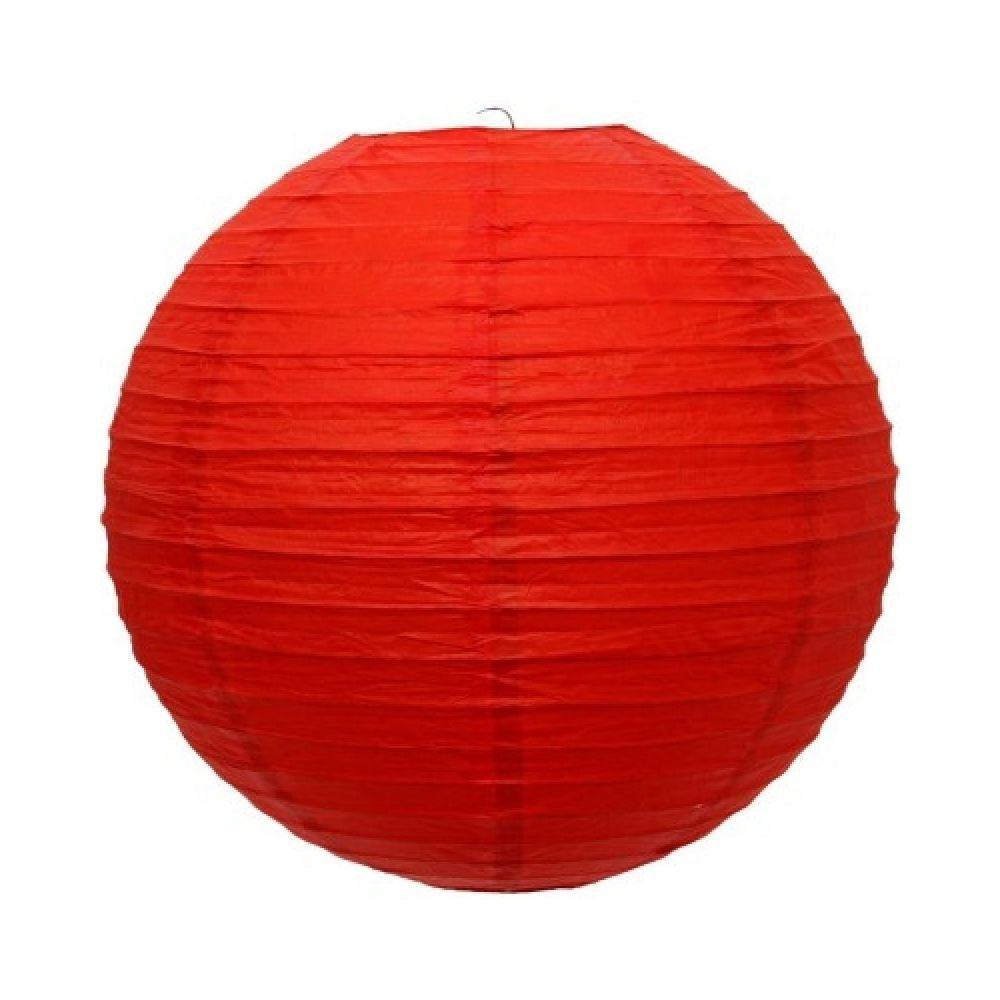 Luminária Oriental Vermelha Lisa 30 cm