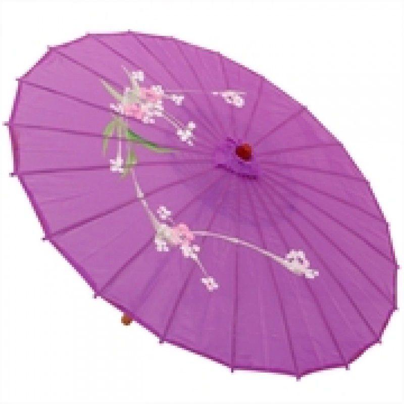 Sombrinha Oriental Decorativa Roxa  85 cm