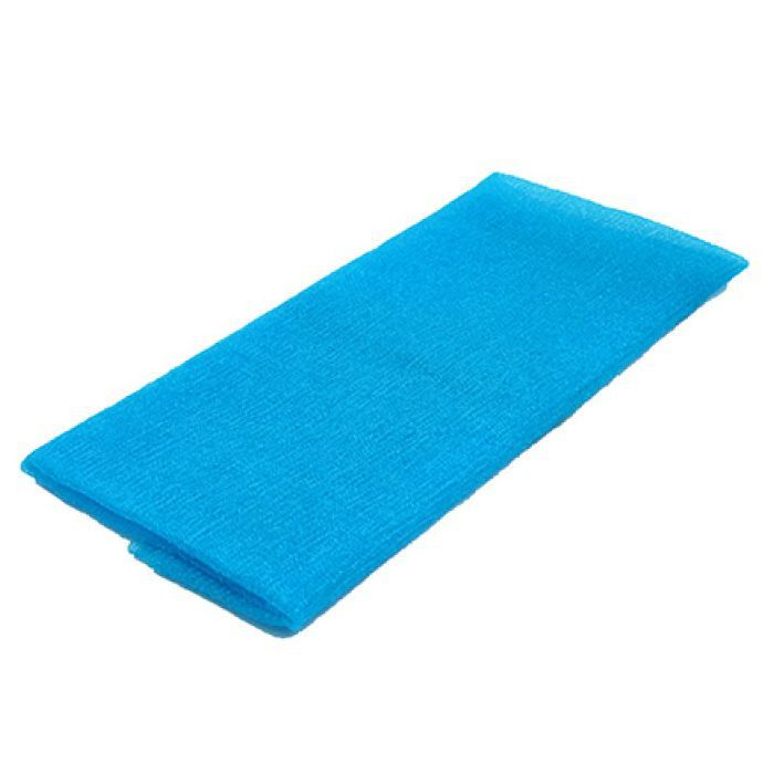 Toalha de Banho Tipo Japonesa Nylon Azul 30 cm x 89 cm / Massagem Esfoliante Terapêutica Instantânea, Alívio do Cansaço e do Stress!