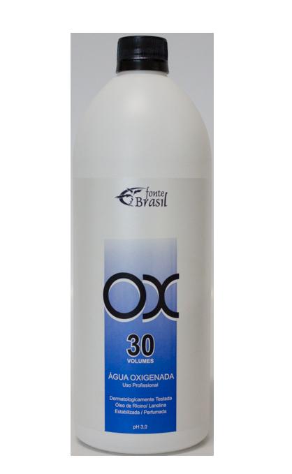 Água Oxigenada 30 volumes 900 ml  - Fonte Brasil Cosméticos