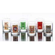 Conjunto 6 Copos de Whisky Rotulo H. Martin