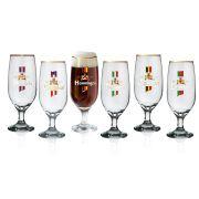Conjunto 6 Copos Premium Floripa Gold Beer com Filete - H. Martin