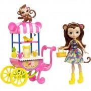 Enchantimals Merit Monkey Carrinho de Frutas- Mattel