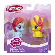 Mini Figura My Little Pony Rainbow Dash e Bumble Sweet Playskool Hasbro
