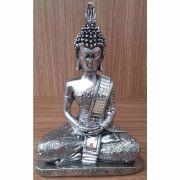 Peça Decorativa em Gesso Metalizado – Buda Tailandês