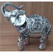 Peça Decorativa em Gesso Metalizado – Elefante Estilizado