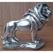 Peça Decorativa em Gesso Metalizado – Leão Novo