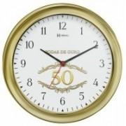 Relógio de Parede Bodas de Ouro Dourado Metalizado Herweg – 6637