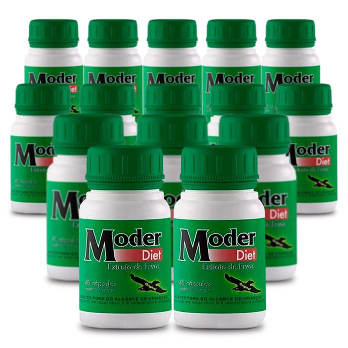 Moder Diet Gold ORIGINAL - Compre 10 e leve 15 caixas  - Composto Natural