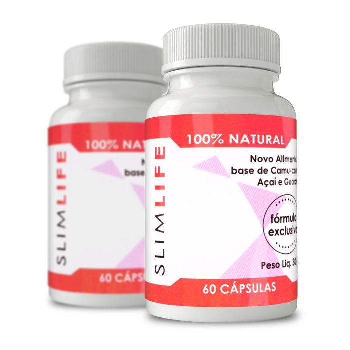 Slim Life Original - Combo com 2 potes -  100% Natural - 60 Cápsulas