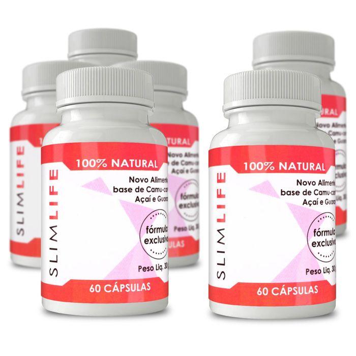 Slim Life Original - Compre 4 e leve 6 potes - 100% Natural - 60 Cápsulas