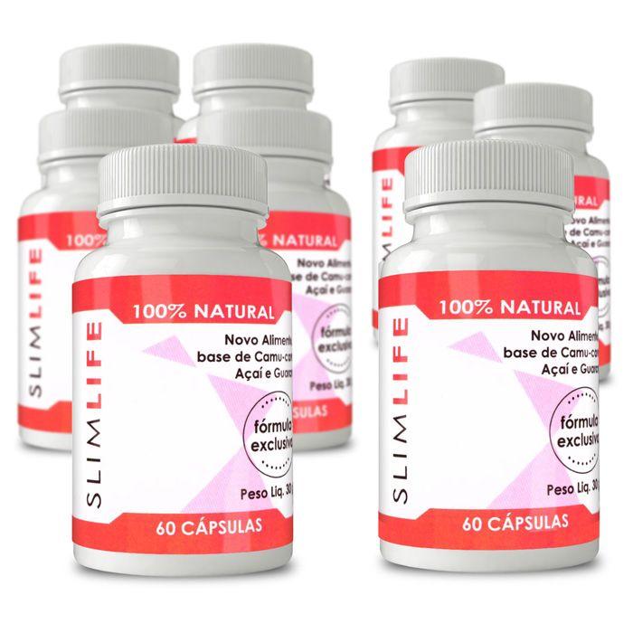 Slim Life Original - Compre 5 e leve 8 potes - 100% Natural - 60 Cápsulas