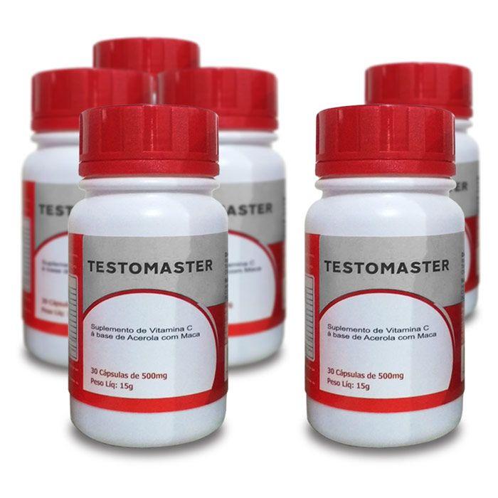 Testomaster - 30 cápsulas - Compre 4 leve 6  - Composto Natural