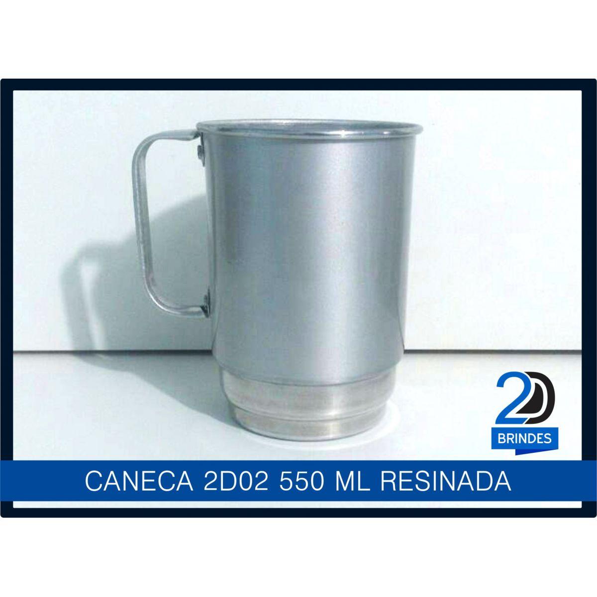 Caneca Alumínio 550ml Resinada para Sublimação  - 2D Brindes