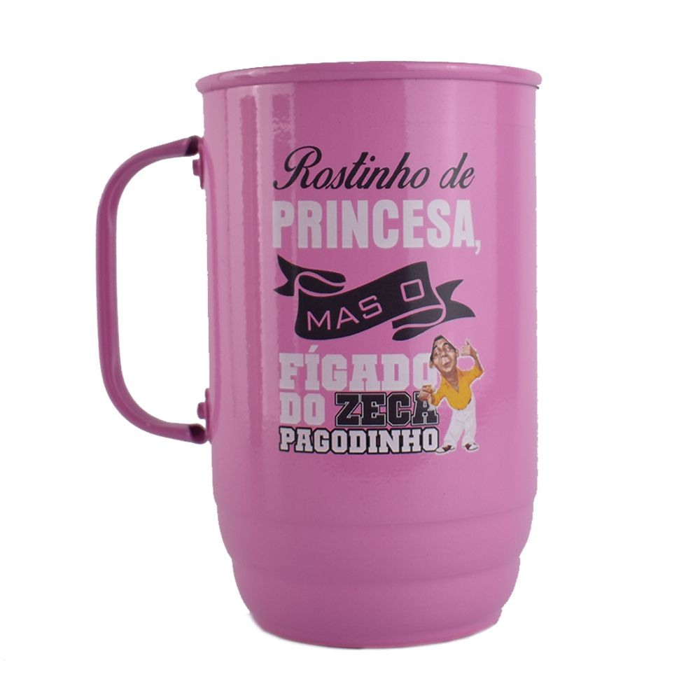 Caneca Alumínio 850ml Rosa   - 2D Brindes