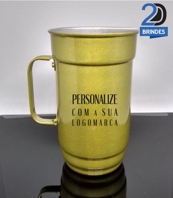 Caneca Alumínio Mod. 2D01 - 750ml - Preta  - 2D Brindes