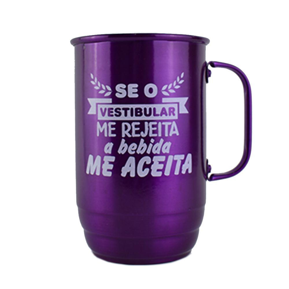 Canecas Alumínio 850ml Verde Violeta  - 2D Brindes