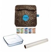 Super Kit Cozi Bag 1 Litro + Refratária 1 Litro  + Film + 5 Temperos Magic