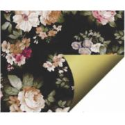 PAPEL DOUBLE FACE - BLACK FLOWERS - A3