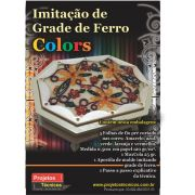 KIT IMITAÇÃO DE GRADE DE FERRO COLORS - A4 - C/APOSTILA DE DESENHOS, PASSO A PASSO + 5 FOLHAS DE PAPEL MILIMETRADO EM 5MM + MAXXICOLA 15 ML.