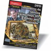 DVD - CAIXA ONÇA 3D - COM CRAQUELÊ ITALIANO - Nº 13 COM JORGE PINTO