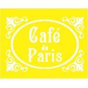 STENCIL PARA SOBREPOSIÇÃO - AMARELINHO CAFÉ PARIS- PROJETEC DESIG 21X16 CM