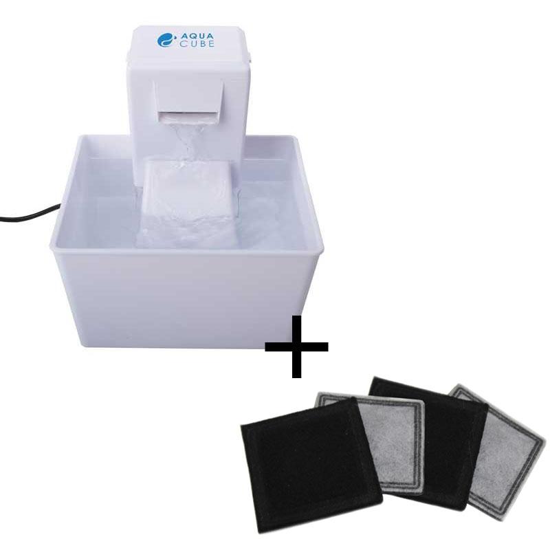 Fonte Aqua Cube + Refil de Carvão ativado para as Fontes Aqua Cube e Aqua Fall