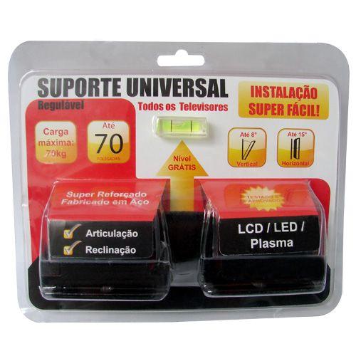 Suporte Universal Regulável para Televisores LCD, LED e Plasma até 70 polegadas, carga máxima 70kg