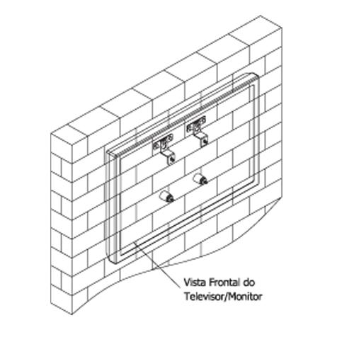 Suporte de Parede Reclinável TV (LED/LCD/Plasma), até 70 Polegadas, Suporta até 120kg, Nível Grátis